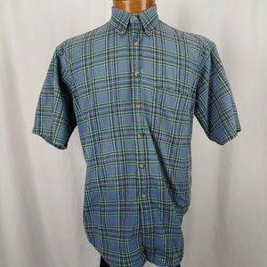 Pendleton Mens Short Sleeve Button Front ShirtSz M